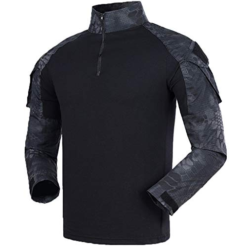 YOUNGFASHION Hunting Shirt Combat Tactical Military Garment Clothes Shooting Costume Outdoor Hiking Quick Dry T-Shirt HSMW M -