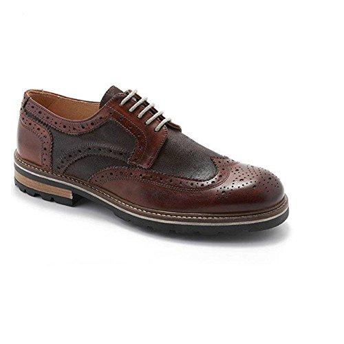 EXTON Zapato hombre elegante Crust Marrón 188