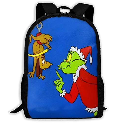 School Backpack The Grinch Stole Christmas 3D Adult Outdoor Leisure Sports Backpack -