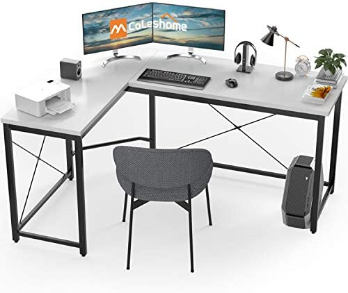 L Shaped Desk Corner Computer Desk Sturdy Computer Table Writing Desk Gaming Desk Workstation