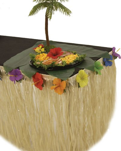 Hibiscus Raffia Table Skirt (Hibiscus Flower Pinata)