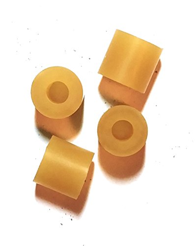 Kakesa Steel Drum Pan Mallets Replacement Tips - Dbl. Second Amber (2 (Amber Tip)