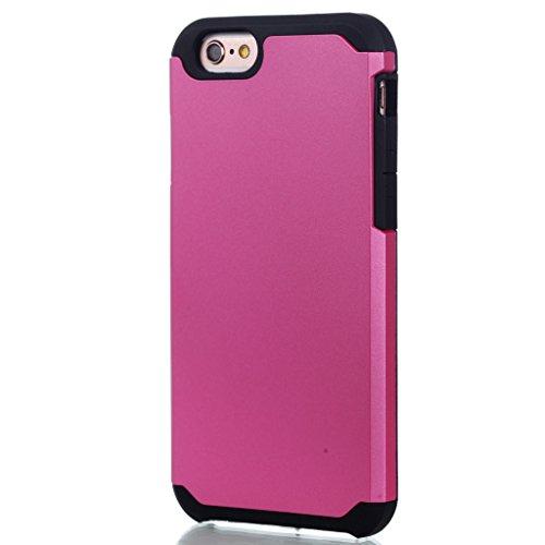 "Hülle Cover iPhone 6 Plus / 6S Plus, IJIA Ultra Dünnen Weich TPU und Harte PC (2 in 1) Silikon Hülle Handyhüllen Schutzhülle Handyhülle Schale Case Tasche für Apple iPhone 6 Plus / 6S Plus 5.5"" + 24K"