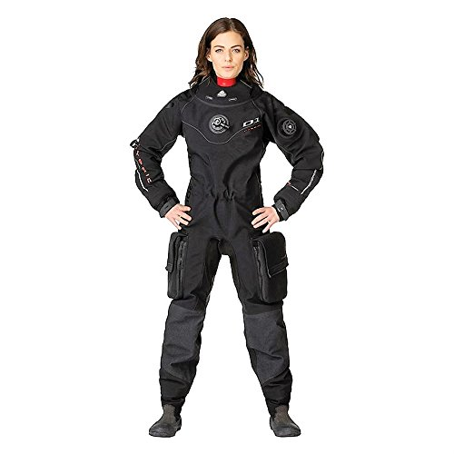 New Women's Tusa WaterProof D1 Hybrid Back Zip Trilam Drysuit with Integrated Silicone Seals & Quick Cuff System (Size Large) by Waterproof