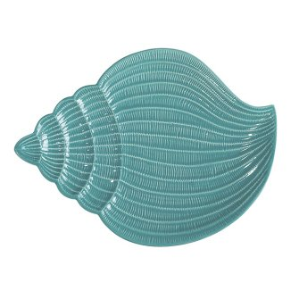 Turquoise Set of 2 Andrea by Sadek Conch Shell Large Dinner Plates