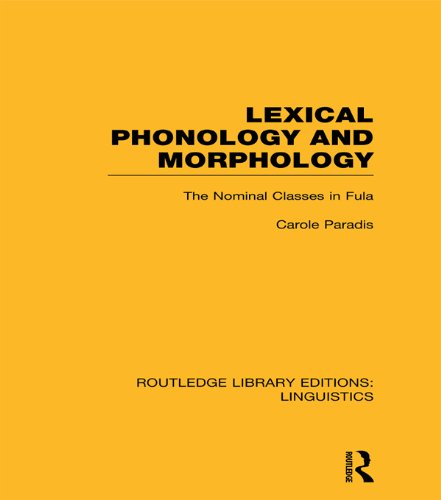 (Lexical Phonology and Morphology (RLE Linguistics A: General Linguistics) (Routledge Library Editions: Linguistics))