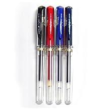 Uni-ball Signo Broad UM-153 Gel Ink Pen, 4 colors set of Black, Red, Blue, Blue Black (Japan Import) by Uni-ball