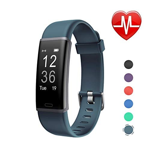 LETSCOM Fitness Tracker HR, Activity Tracker Watch with Heart Rate Monitor, IP67 Waterproof Smart Bracelet as Step Counter Pedometer Calorie Watch for Kids Women Men