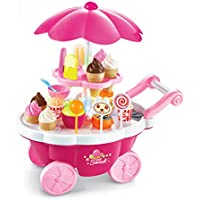 Toys N Smile Ice Cream and Sweet Shopping Cart Play Toy Set with Light and Sound Effect for Kids
