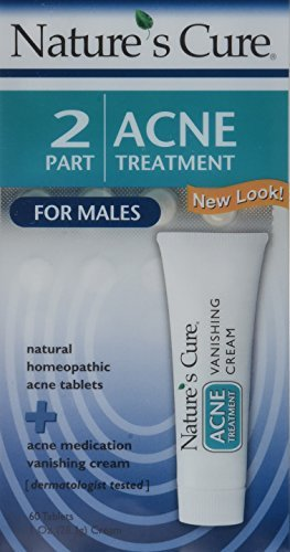 Nature's Cure Two-Part Acne Treatment System for Males 1 month supply (Quantity of 3) by Nature's Cure