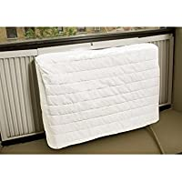 Carol Wright Gifts Quilted Air Conditioner Cover,White Size SM