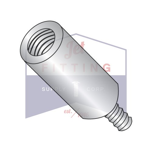 8-32X1 1/8 1/4'' OD Round Standoffs (Male-Female) | Stainless Steel (QUANTITY: 500) by Jet Fitting & Supply Corp