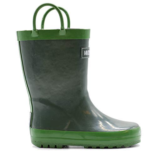 Mucky Wear Children's Rubber Rain Boot, Hunter Green, 9T US Toddler -
