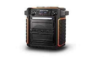 Ion Audio Raptor | Wireless Ford Themed Portable PA Speaker with IPX4 Water Resistance, Mic, AM/FM Radio, and USB Charge Port