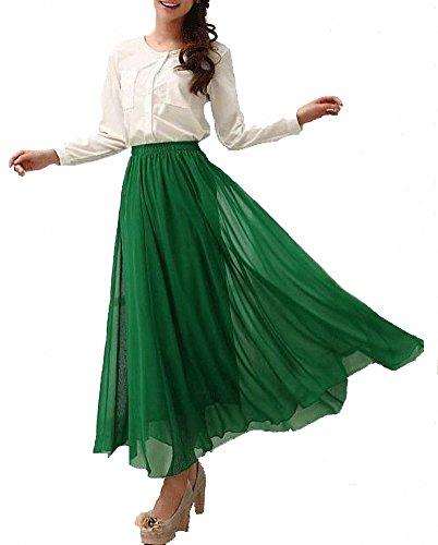 d36a507b4b Jual Afibi Womens Chiffon Retro Long Maxi Skirt Vintage Dress ...