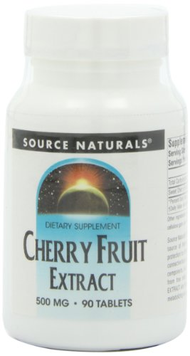 Source Naturals Cherry Fruit Extract 500mg Potent Antioxidant & Anti-Inflammatory - Promotes Heart, Tooth & Cholesterol Health - Vitamin C & Melatonin For Immune Health & Sleep Cycles - 90 Tablets