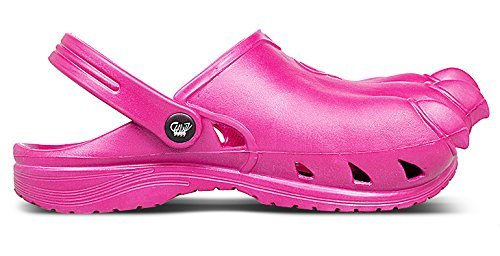 Clawz Shoes Unisex Classic Pink Rubber Clawz Clogs M4/W6 US