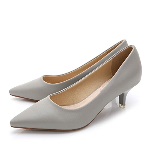 Wedding Kenavinca Heel Thin Work Toe Nude Women Genuine Women's Pumps Low Inside 34 Woman Pointed Leather Stiletto 43 Shoes Shoes Heels Shoe HOUZwHCqr