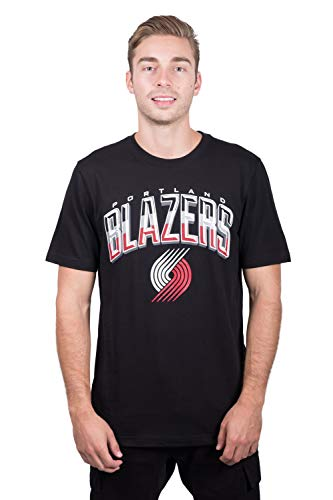 NBA Portland Trail Blazers Men's T-Shirt Arched Plexi Short Sleeve Tee Shirt, Small, Black