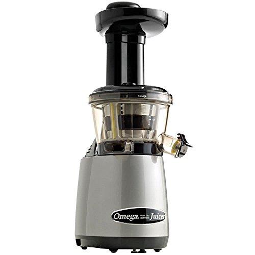 Omega Juicers VRT400HDS Vertical Masticating Juicer with Tap, Silver