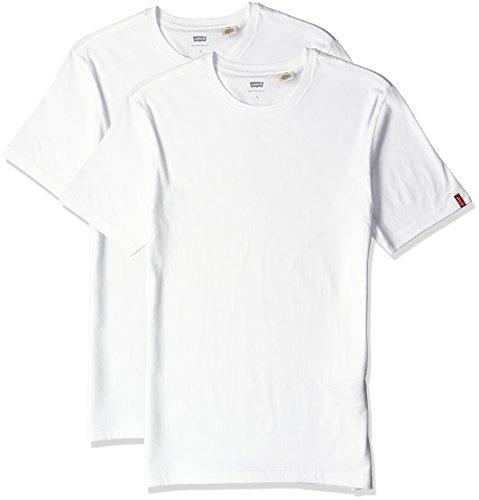 ベンチャー細い深い(リーバイス) Levi's スリム 2パック クルーネック Tシャツ BLACK/BLACK H7181