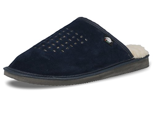 Ecoslippers Sandales Compensées Homme - Bleu - Bleu Marine, 44 EU