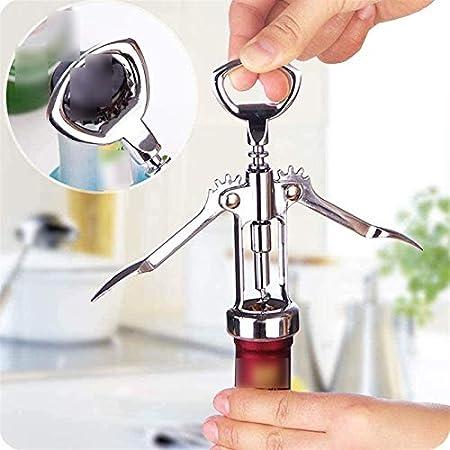 wsxc Sacacorchos de Vino, Mini Mini de Acero Inoxidable, Fuerte y Duradero, Utilizado en la Cocina Restaurantes Bares y Bares