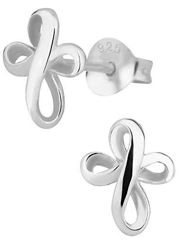 Cross Sterling Earrings - Hypoallergenic Sterling Silver Round Cross Stud Earrings for Kids (Nickel Free)