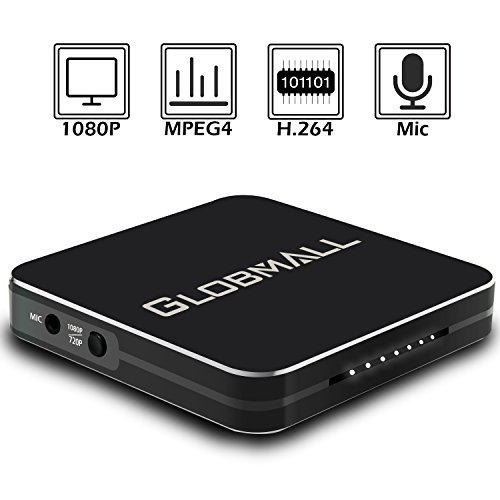 Globmall Game Capture Device, Hdmi Video Capture 1080P Recorders with Hdmi Input, Record PS4, Xbox One and Xbox 360, Live TV, Game Recorder Device, Support Microphone Input
