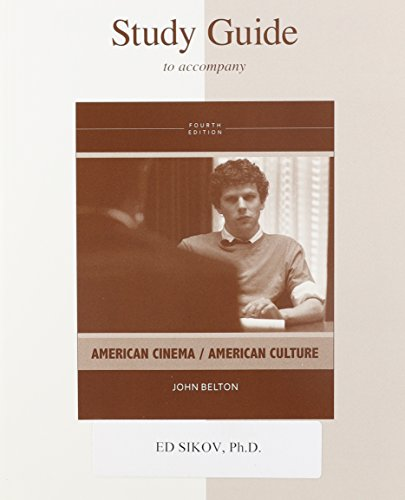 Study Guide To Accompany American Cinema / American Culture