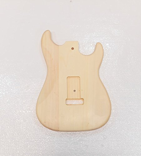 Left-Handed Unfinished Electric Guitar Body for Stratcaster Style guitar, Bass Wood Made