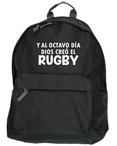 HippoWarehouse Y Al Octavo Día Dios Creó El Rugby kit mochila Dimensiones: 31 x 42 x 21 cm Capacidad: 18 litros Negro