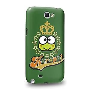 Case88 Premium Designs Kero Kero Keroppi Collection 1340 Carcasa/Funda dura para el Samsung Galaxy Note 2