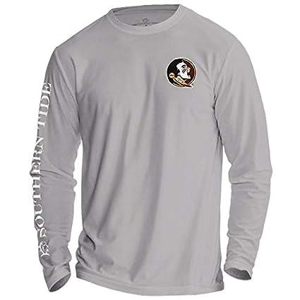 cb4cf39cc1c Garnet & Gold Men's Long Sleeve Performance T-Shirt with Seminole Head by  Southern Tide