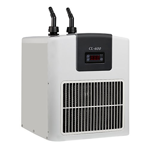 (VIVOSUN 1/4HP Active Aquarium Chiller Ultrahigh Refrigeration Efficiency for Both Freshwater and Seawater)