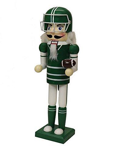 (Green American Football Player Sports Nutcracker [14722G])
