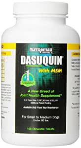 Nutramax Dasuquin with MSM Chewables, Small/Medium Dog, 150 Count