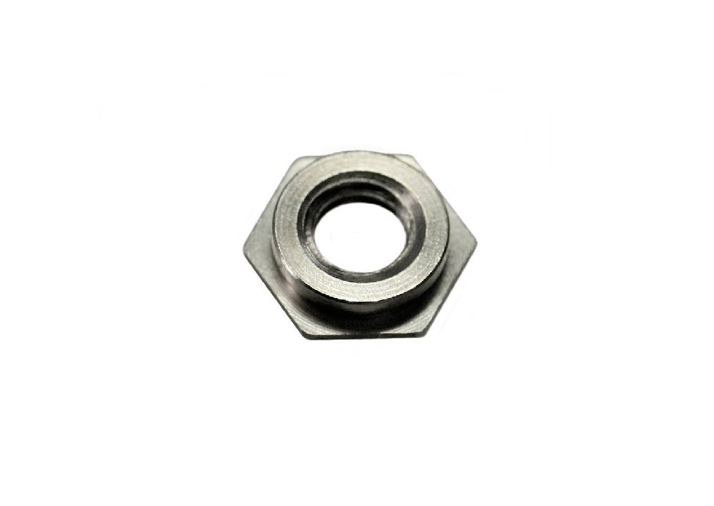 Unicorp EF-0420-5 Hex Captive Nut Self-Clinching, 1/4-20 Thd x .187 thk, Stainless QTY-10