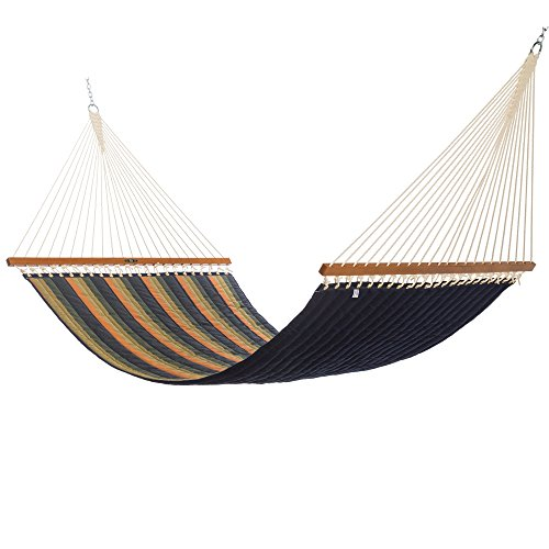 - Original Pawleys Island QGN06 Large Quilted Sunbrella Fabric Hammock, Gateway Aspen