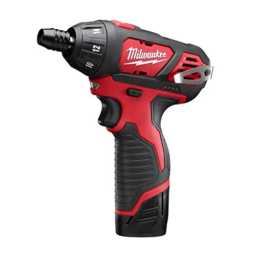 Milwaukee M12 12-Volt Lithium-Ion 1/4 in. Hex Cordless Screwdriver Kit | Hardware Power Tools for Your Carpentry Workshop, Machine Shop, Construction or Jobsite Needs by Milwaukee (Image #1)
