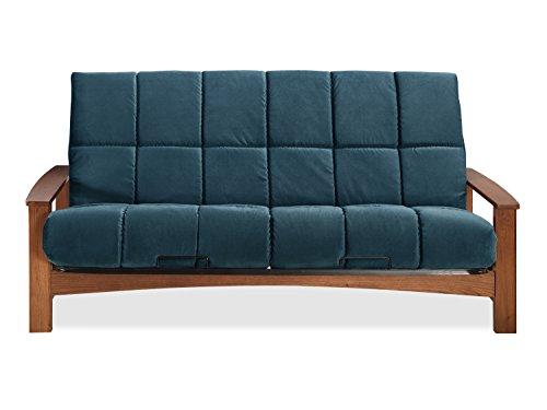 Sofas 2 Go SI-EX-VAC-VO-4I Vancouver Vintage Oak Futon Frame W/ 8
