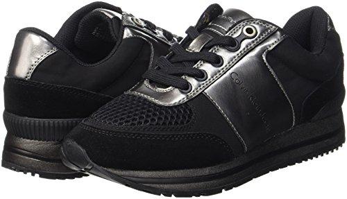 pewter Sneaker Smooth Suede Klein Calvin Multicolore Donna nylon metal Tanya black qAwv7O
