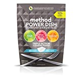 Method Power Dish Dishwasher Detergent Packs, Free + Clear, 45 Count