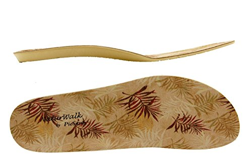 Calzado mujer confort de piel Piesanto 8525 zapato cordones plantilla extraíble cómodo ancho Blanco