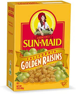 Dried Fruit & Raisins: Sun-Maid Golden Raisins