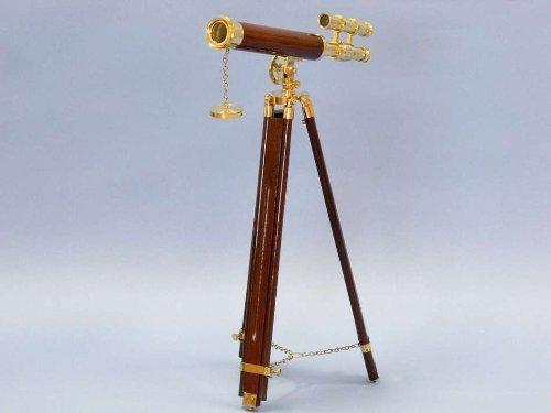 Hampton Nautical Floor Standing Brass/Wood Griffith Astro Telescope, 44'', Brass