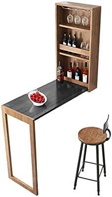 Mesa Plegable De Pared Con Compartimento Para Guardar Vino Y Mesa ...