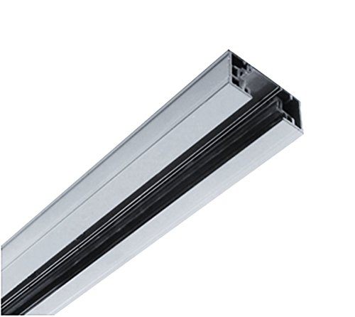 NICOR Lighting 8-Foot Track Rail Section, Nickel (10008NK) by NICOR Lighting