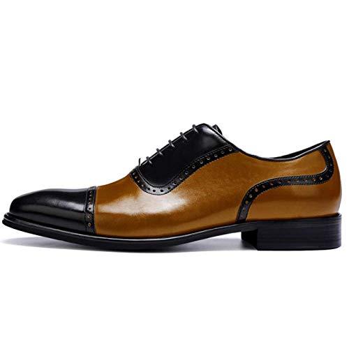 Inglese Eleganti Brown Aliexpress Pelle Da Color Business Black I8F7qId