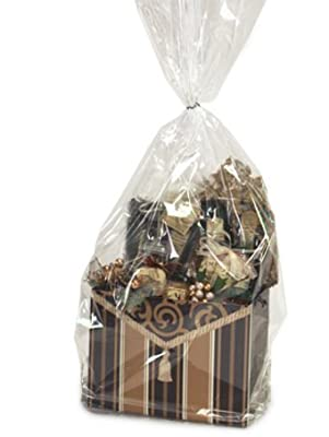 """CakeSupplyShop Crystal Cello 16"""" X 24"""" - Cellophane Bags for Gift Basket Packaging 